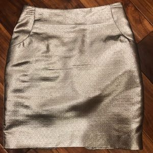 Metallic mini skirt!
